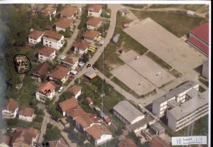 Ariel photo showing Adem Omeragic's house in Pionirska ulica