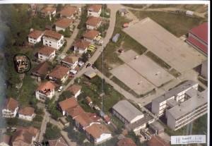 Ariel photo showing Adem Omeragic's house in Pionirska ulica