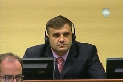 Milan Lukic, accused of commiting war crimes against Bosnin Muslims in Visegrad