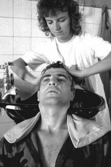 Milan Lukic having a hair cut in June '92