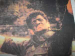 War-time picture of Milan Lukic in a military uniform in Visegrad.